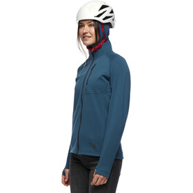 Black Diamond Coefficient Fleece Hoody Women, azul